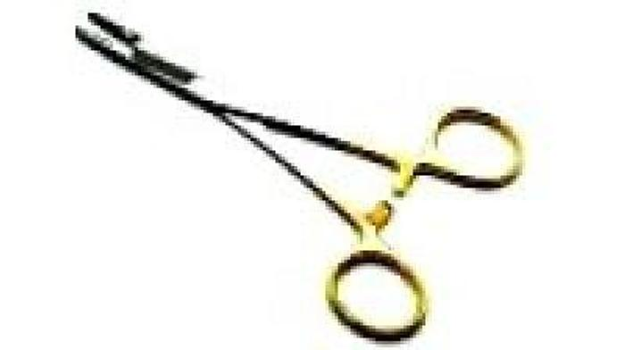 Used Holder Suture Needle and Scissor Tungsten Carbide Olsen Hegar Baby 116mm (4-1/2in)