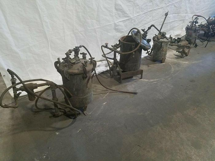 Used Greco Mixing Pressure Paint Tanks Four Total One Price