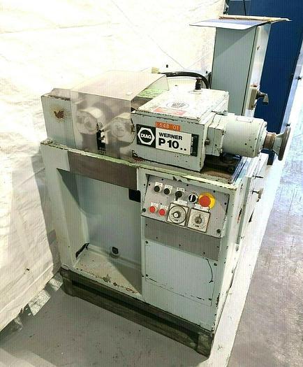 Used Diag Werner Pee Wee P10.8 Thread Rolling Machine Knurling Roller German Machine