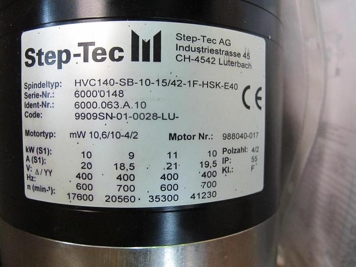 Motorspindel Step-Tec HVC 140-SB-10-15/42-1F-HSK-E40