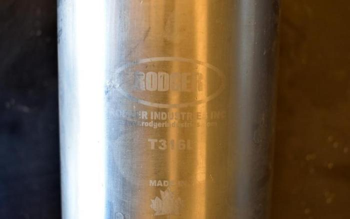 """USED BASKET FILTER, 2"""" INLET/OUTLET, 316L STAINLESS STEEL"""