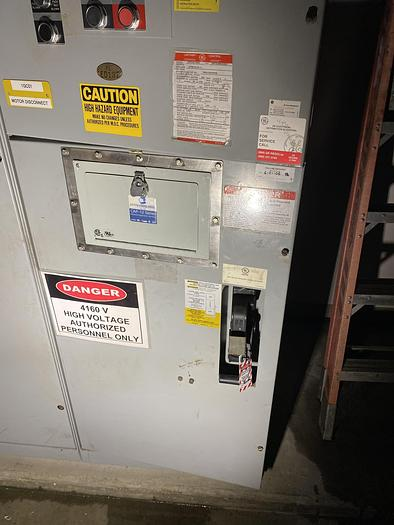 Used GENERAL ELECTRIC LIMITAMP CR194A118A2 800 HP CONTROLLER W/ DRAW-OUT AIR-BREAK CONTACTOR