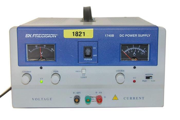 Used BK Precision 1740B Analog DC Power Supply 120V, 50/60Hz (1821)
