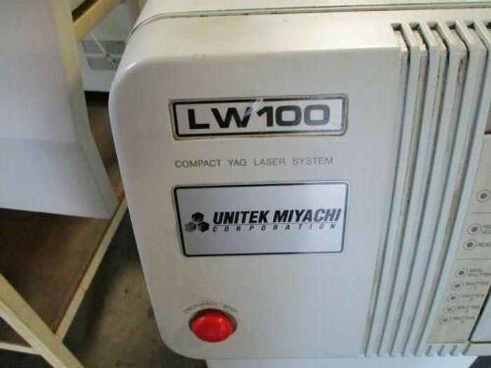 MIYACHI UNITEK MODEL LW 100 COMPACT YAG LASER SYSTEM WITH CHILLER AND CABINET