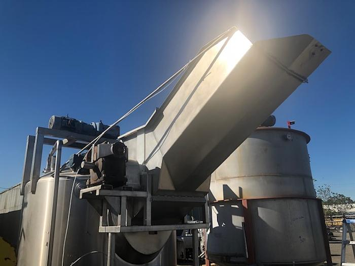 Feldmeier 1,000 Gallon Jacketed Concentrate Chopper Tank