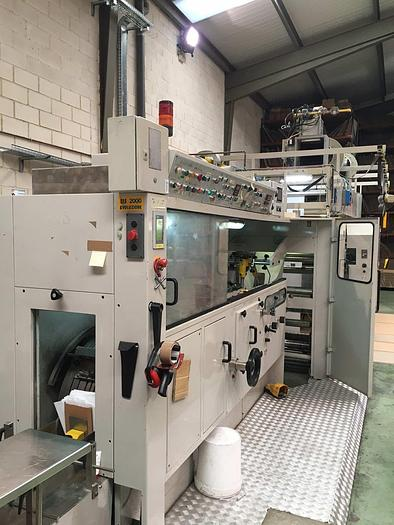 Used 1997 CASTALDINI  EIS 2000 EVOLUZIONE (3 col. flexo, window unit) flat & satchel paper bag making machine