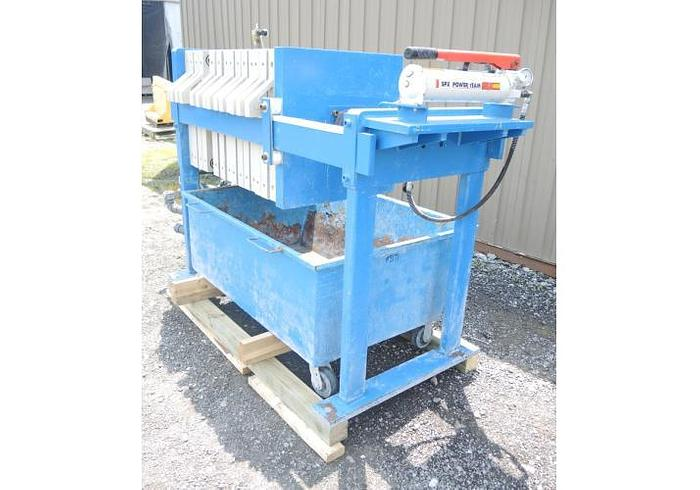 USED FILTER PRESS, RECESSED PLATE GASKETED, 630 MM X 630 MM, POLYPROPYLENE