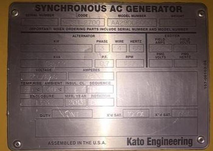 Used Caterpillar 3516 Natural gas generators 3 sets