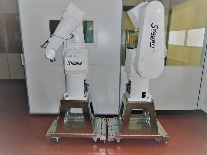 Used Staubli RX130 CR Robot with Controller - 2 sets