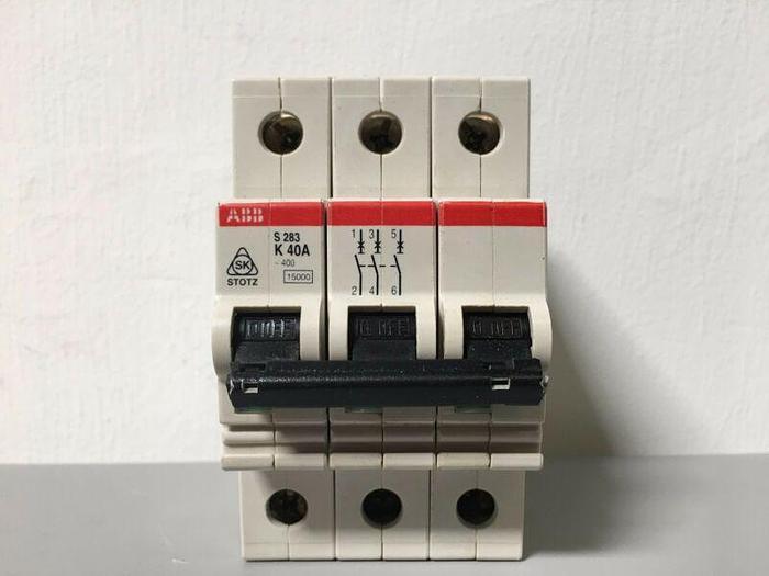 Used ABB S283-K40A  3-Pole Circuit Breaker