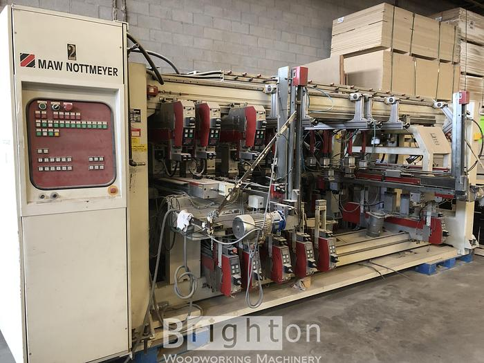 Used 2000 Maw Nottmeyer NB 95 used automatic throughfeed dowel hole Boring / Drilling machine