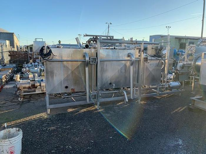 Used 3 Tank Stainless Steel CIP Skid System