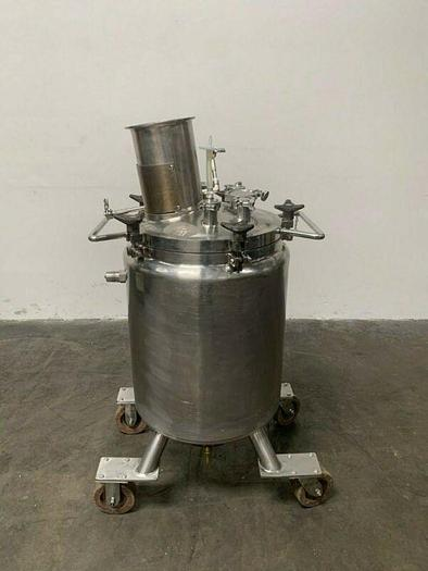 Used LEE 100 Liter Stainless Steel Jacketed Reactor w/ Agitator 30 PSI