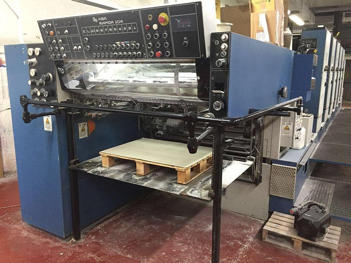 Used KBA 104 Perforation 5 color Straight 1998