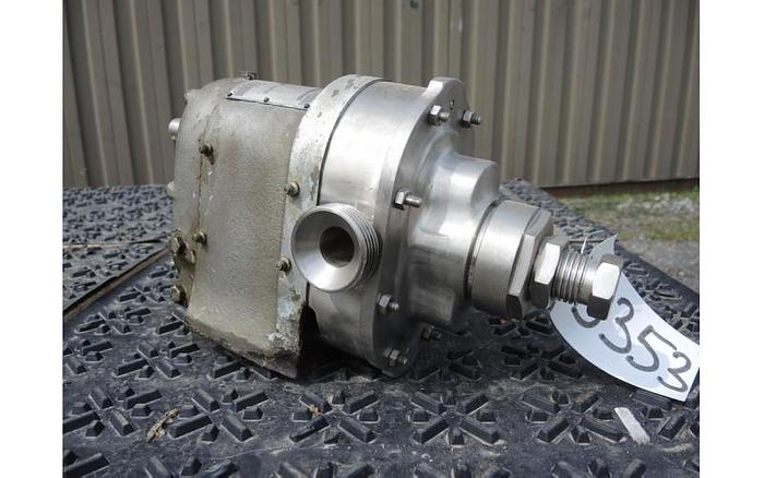USED WAUKESHA ROTARY LOBE PUMP, MODEL 16, STAINLESS STEEL