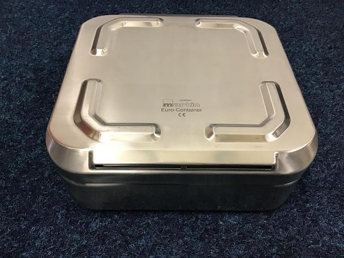 Used MARTIN KLS Euro Container Chrome Nickel Steel Lockable 275 x 275 x 75mm