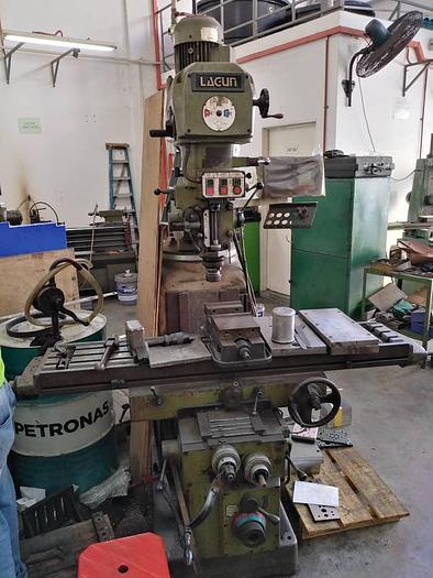 Used LAGUN 4HP MILLING MACHINE