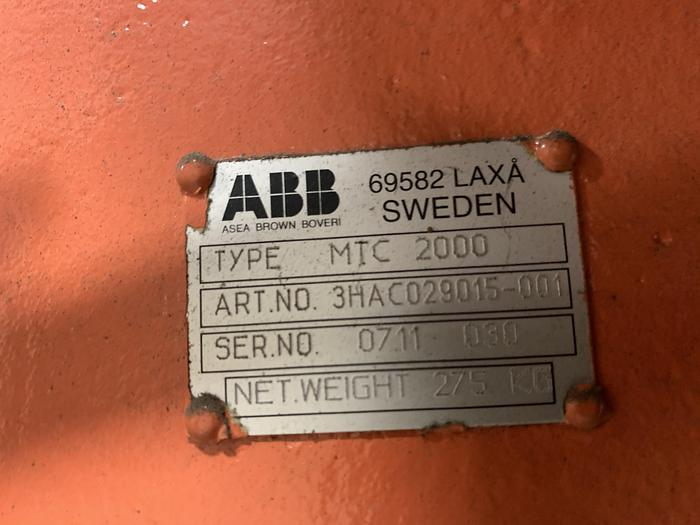 ABB IRB 2400 ROBOTIC LASER WELDING CELL WITH DUAL ABB IRBP 2000L DUAL TRUNNIONS