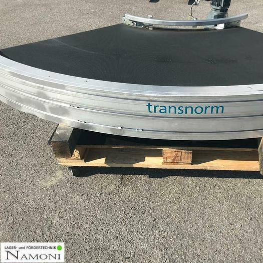 Gebraucht TRANSNORM Kurven Gurtförderer/ Förderband Kurve 90°