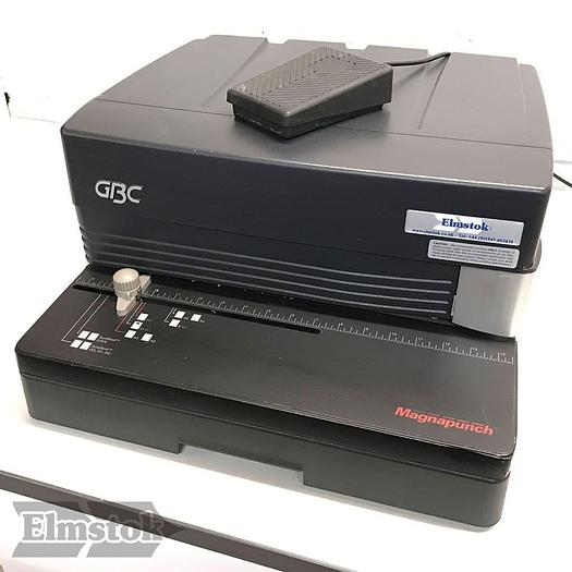 Used Pre-owned GBC Magnapunch 1.0 Punch Machine Including 21-Hole Plastic-Comb Tool