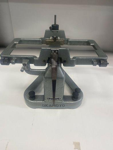 Used Okamoto BW-260 WHEEL BALANCING STAND FOR WHEELS GRINDER ATTACHMENT Warranty