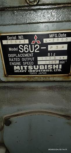 Mitsubishi S6U2-PTA x 3 generators 50 Hz with Low working hours