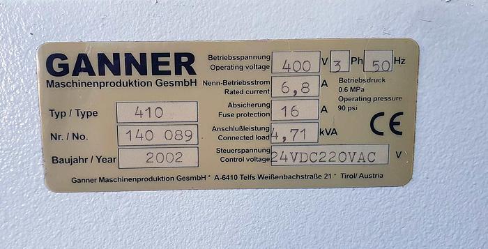 "2002 Gannomat GANNOMAT ""ELITE 25 ""S, year 2002"
