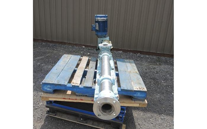 "USED PROGRESSING CAVITY PUMP, 3"" X 3"" INLET & OUTLET, STAINLESS STEEL"