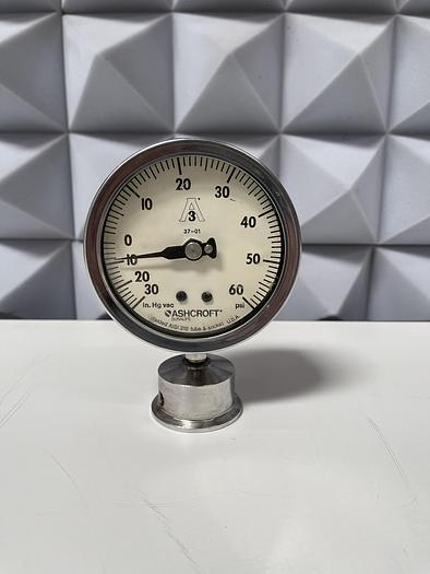 Used Ashcroft 250-2456-BA Pressure Gauge 60 PSI
