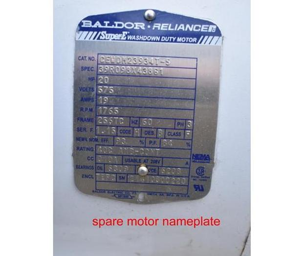 USED ROTOSOLVER HOMOGENIZER, 20 H.P., STAINLESS STEEL