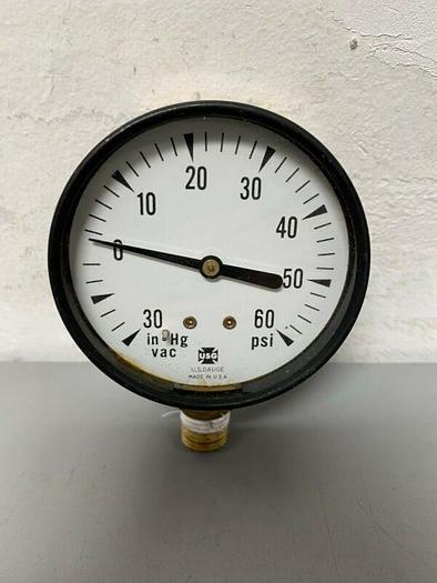 Used USG Pressure Gauge VAC 30-0-60 PSI