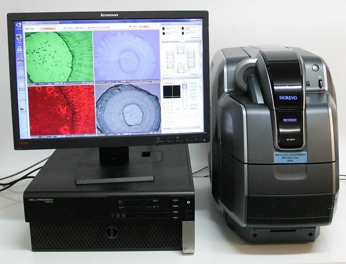 Used Keyence BZ-9000E All-In-One Fluorescence Microscope w Computer & Software (6518)