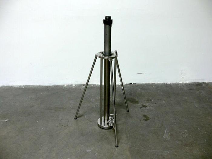 Used Unknown Make/Model Stainless Steel Chromatography Column w/ 6000 PSI 316L Valve