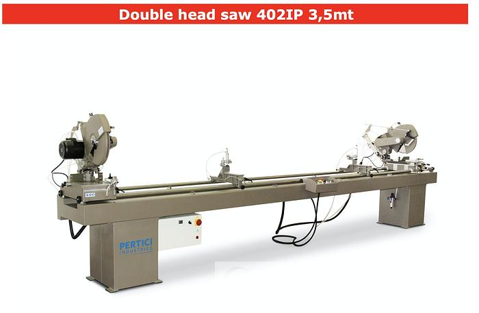 Used Pertici 402IP Double Head Cut Off Saw