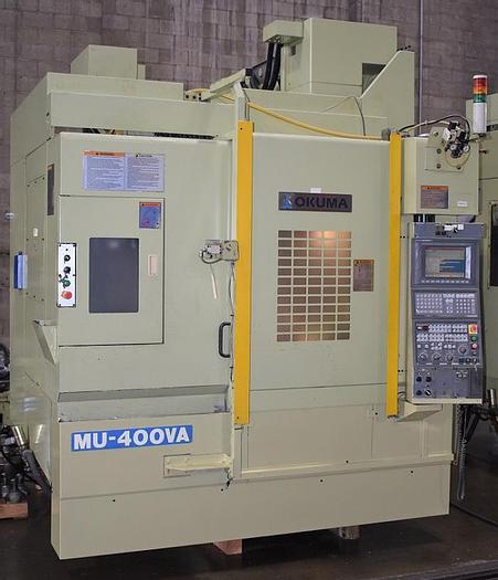 Used OKUMA MU-400VA FULL 5 AXIS CONTOURING VERTICAL MACHNING CENTER
