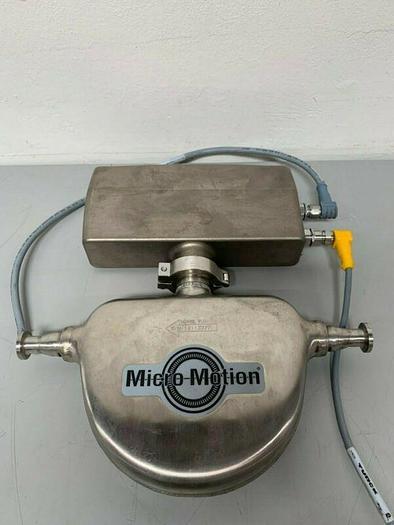 "Used Micro Motion FMC Series Mass Flow Sensor w/ Transmitter & 1/2"" Sanitary Fitting"