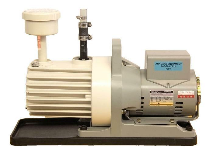 Used Hitachi EFNOU-KQPA Vacuum Pump D466074 w/ S300872A Oil Mist Trap (7350)R