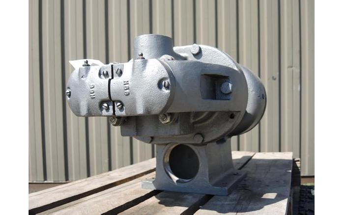 USED TUTHILL ROTARY LOBE PUMP, 3'' X 3'' INLET & OUTLET, STAINLESS STEEL