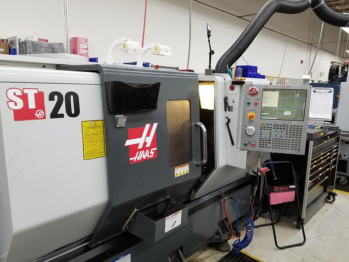 2011 Haas 2C-ST20  Turning Center with Bar Feeder #1700