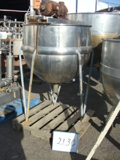 Pfaudler 150 Gallon Jacketed Agitated Mix Kettle #2130