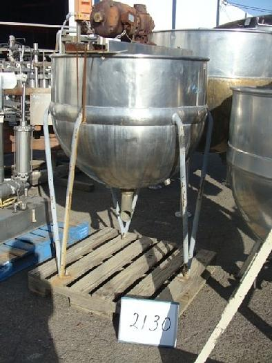 Used Pfaudler 150 Gallon Jacketed Agitated Mix Kettle