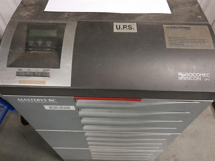 Used SOCOMEC - SICON MAS-BC3105+C1-P 10 KVA 7 KW Uninterruptible Power Supply U.P.S