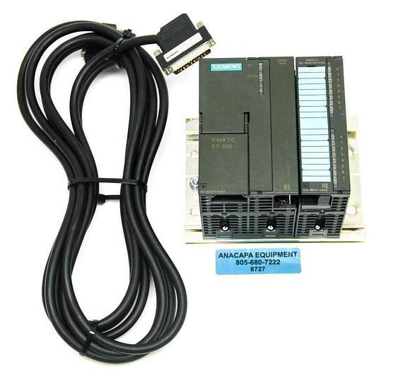 Used Siemens 6ES7 368-3BF01-0AA0 IM361 6ES7 322-1BH01-0AA0, S7-300, PLC Module (8727)