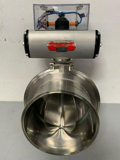 """Used CO.RA Stainless Steel Powder Feeder w/ Automax S085 Actuator & 10"""" Sanitary Fits"""