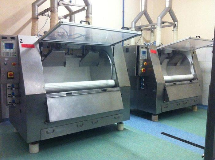 Used (2) WOLF BELT COATING CABINETS FOR CHOCOLATE