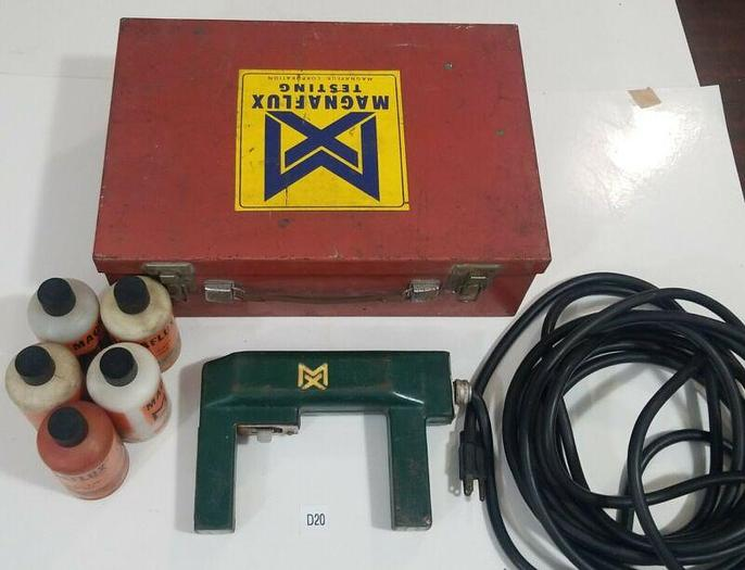 Used *PREOWNED* Magnaflux magnetic particle Y-5 Inspection Yoke Complete & Powders