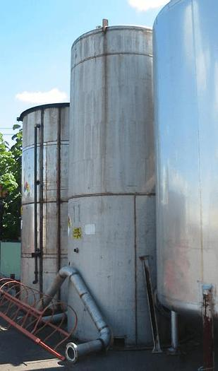 Used 5,000 GALLON VERTICAL STORAGE TANK – S/S – INTERNAL COIL