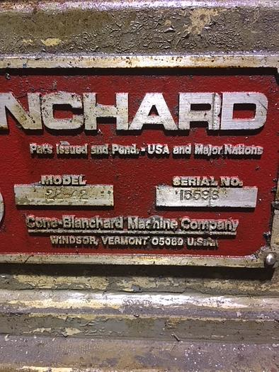 1980 BLANCHARD 2242 VERTICAL ROTARY SURFACE GRINDER