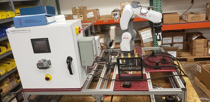 Used NACHI MZ04E 6 AXIS CNC COLLABRATIVE ROBOT 4 KG X 541 MM REACH NEVER USED BUILT 2018