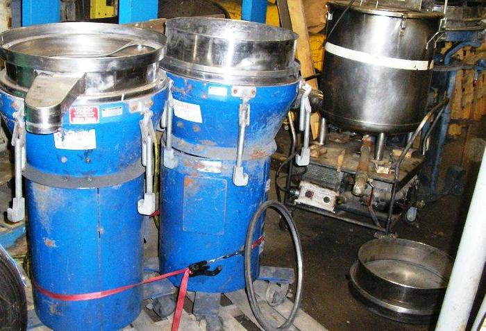 """4 Used Portable Vorti Siv's Available Manufactured by M & M Industries 20""""-26"""""""